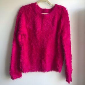 Loft Lou & Grey Magenta Fuzzy Sweater